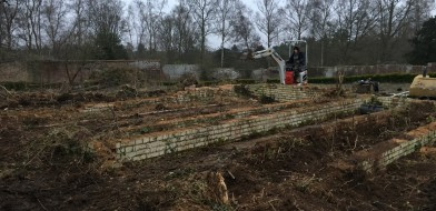 Work begins on The Walled Garden in winter